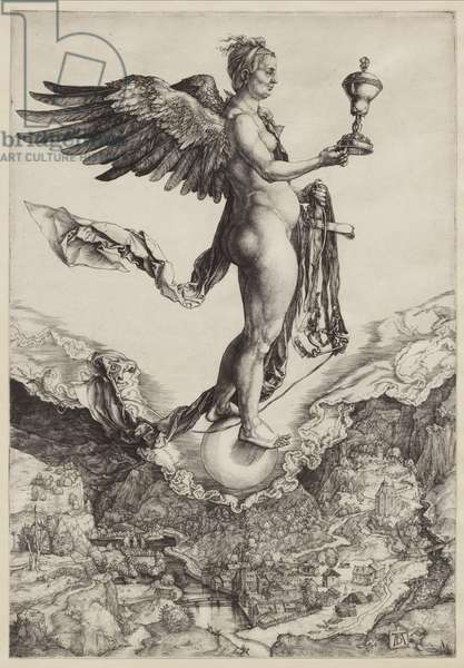 Nemesis (The Great Fortune), 1501-02 (engraving)