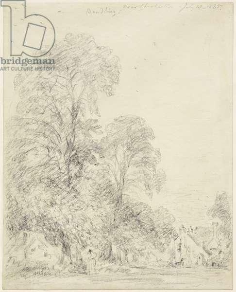Maudlin, near Chichester, 18th July 1835 (graphite on cream wove paper)