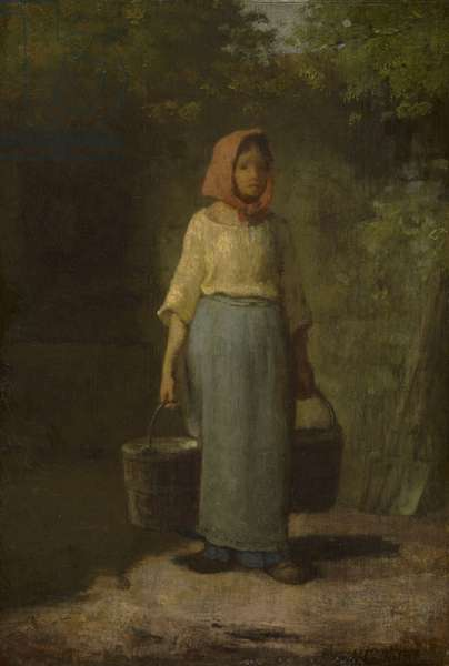 Peasant Girl Returning from the Well, c.1860 (oil on panel)