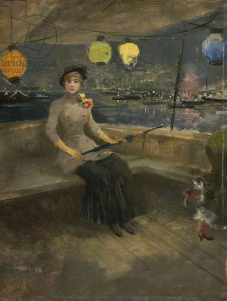 Woman on a Yacht, c.1883 (oil on panel)