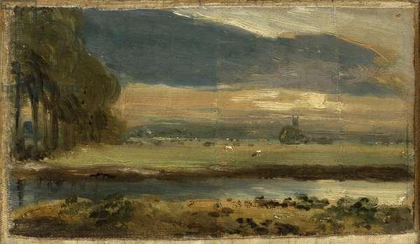 Dedham Church from Flatford, c.1810 (oil on canvas)