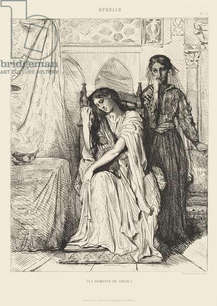 Othello Suite, No. 9 (Act 4, Scene 3), 1900 (etching on chine collé)