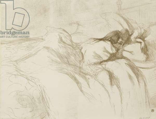 Woman Reclining - Waking Up, 1896 (litho)