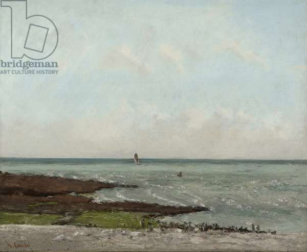 Laundresses at Low Tide, Étretat, 1866 or 1869 (oil on canvas)