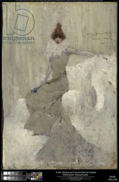 Sarah Bernhardt, 1889 (oil on panel)