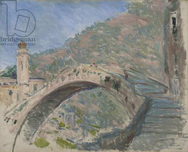 Bridge at Dolceacqua, 1884 (oil on canvas)
