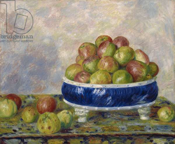 Apples in a Dish, 1883 (oil on canvas)