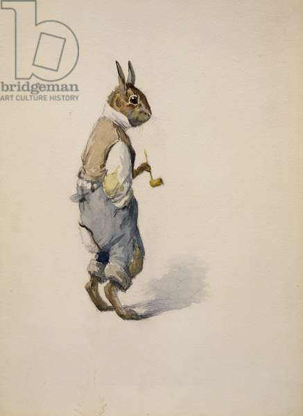 Br'er Rabbit, 1881-1928 (pencil with w/c on paper)