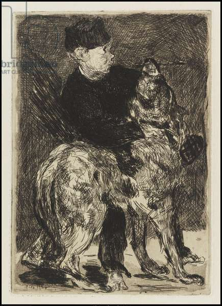 Boy with a Dog, 1862 (etching & open-bite on cream laid paper)