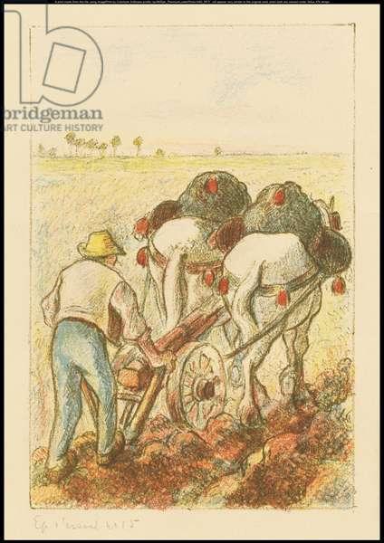 The Plow, frontispiece for 'Les Temps Nouveaux', 1901 (colour litho)