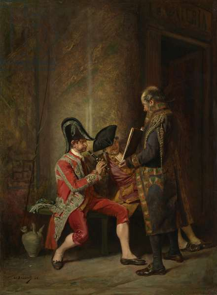 The Musicians (Music in an Antechamber), 1866 (oil on panel)