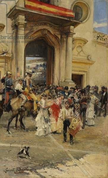 Outside the Bullring, c.1880 (oil on panel)