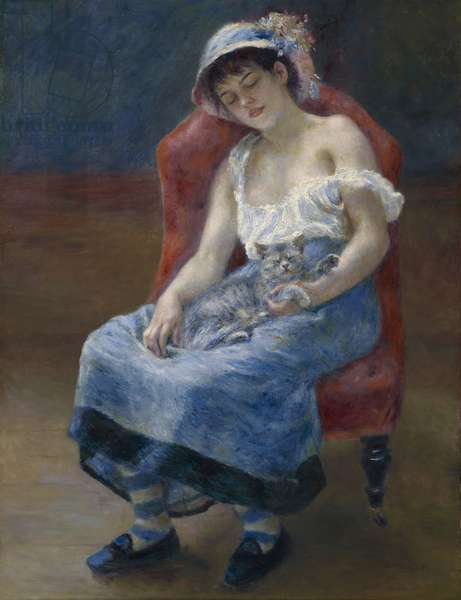 Sleeping Girl, 1880 (oil on canvas)
