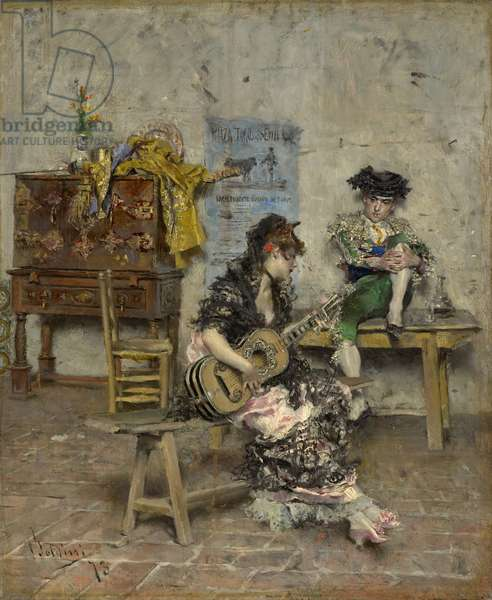 A Guitar Player, 1872 (oil on canvas)