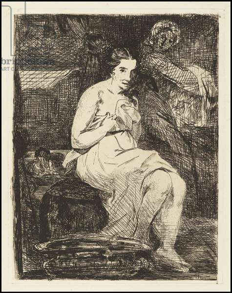 The Toilette, 1862 (etching & open-bite printed in brown-black on cream laid paper)