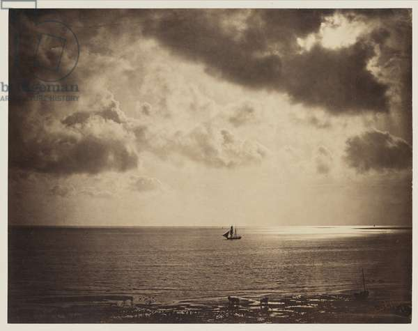 Brig on the Water, 1856 (albumen print from wet-collodion-on-glass negative)