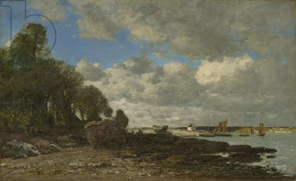 Plougastel, the Ferry Crossing, 1873 (oil on canvas)