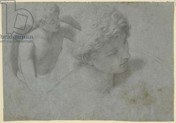 Two studies of a youth, c.1600-10 (black chalk on paper)