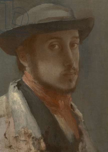 Self-Portrait, c.1857–-58 (oil on paper, mounted on canvas)