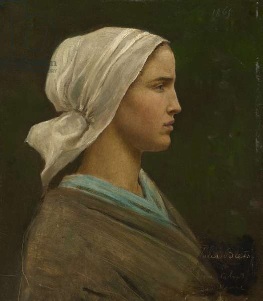 Jeanne Calvet, 1865 (oil on millboard)