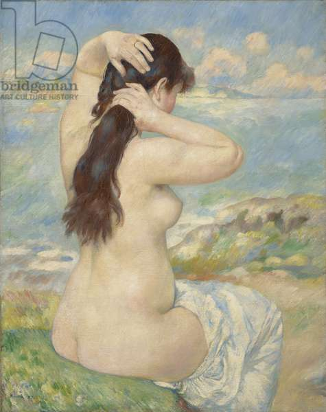 Bather Arranging her Hair, 1885 (oil on canvas)