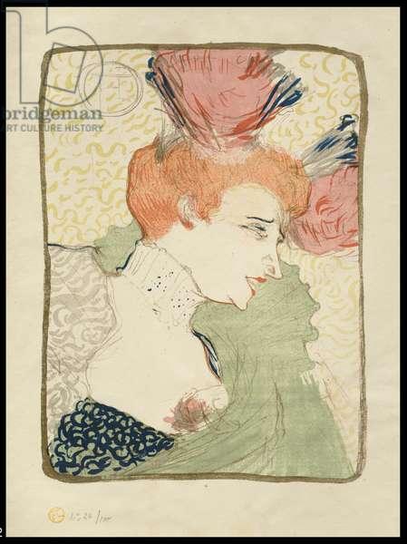 Mademoiselle Marcelle Lender, Bust-Length, 1895 (colour litho)