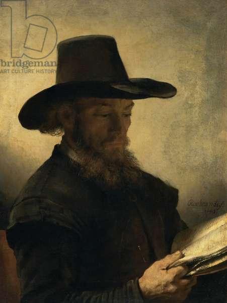 Man Reading, c.1648 (oil on canvas)