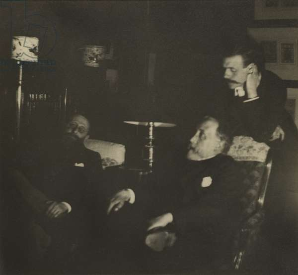 Jules Taschereau, Edgar Degas and Jacques-Emile Blanche, December 1895 (gelatin silver print)