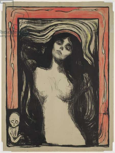 Madonna, 1895 (colour litho with gouache on paper)