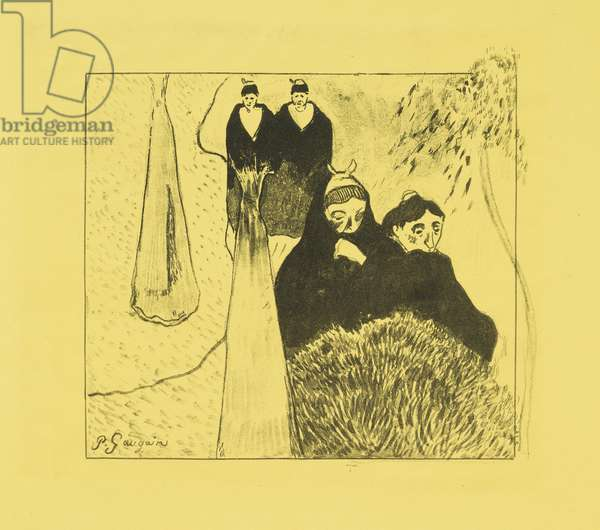 Old Women of Arles, 1889 (zincograph on yellow wove paper)
