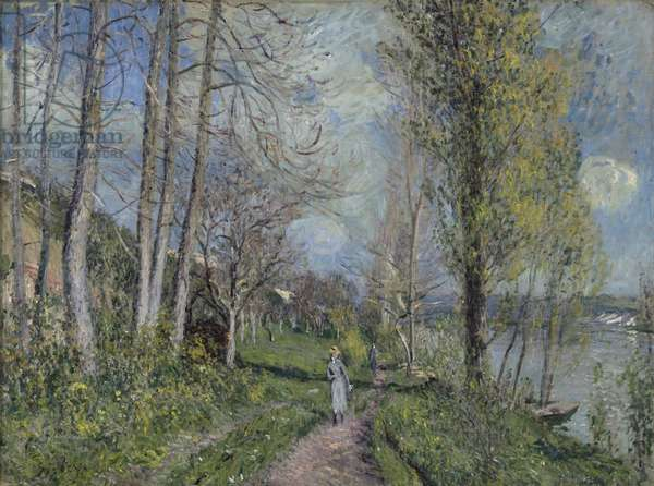 Banks of the Seine, c.1880-81 (oil on canvas)