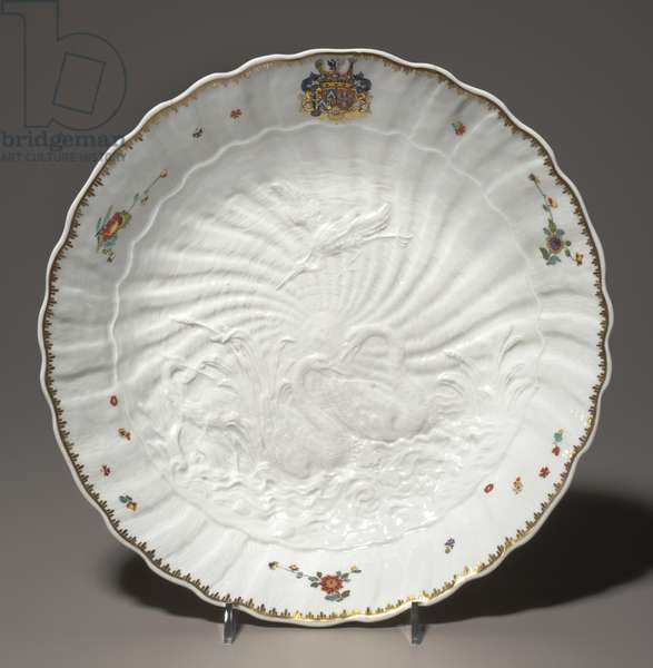 Bowl from the Swan Service, c.1738–39 (hard paste porcelain)