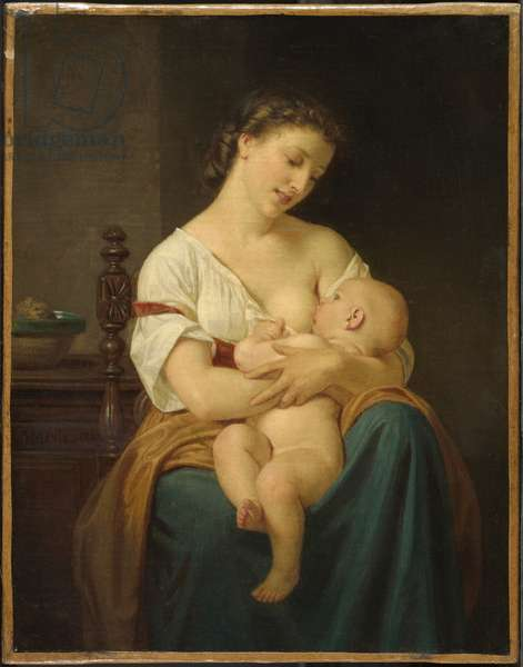 Mother and Child, c.1869 (oil on canvas)