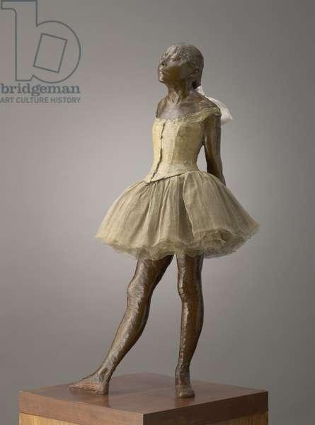 Little Dancer Aged Fourteen, modeled 1879–81, cast 1919–21 (bronze with gauze tutu and silk ribbon, on wooden base)