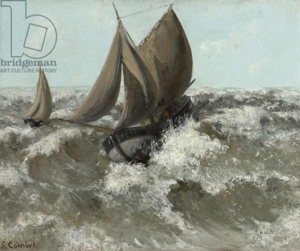 The Sailboat (Seascape), c.1869 (oil on canvas)