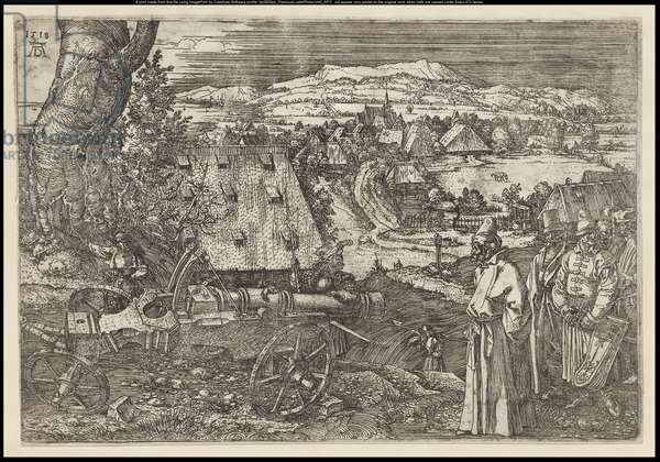 The Landscape with the Cannon, 1518 (etching)