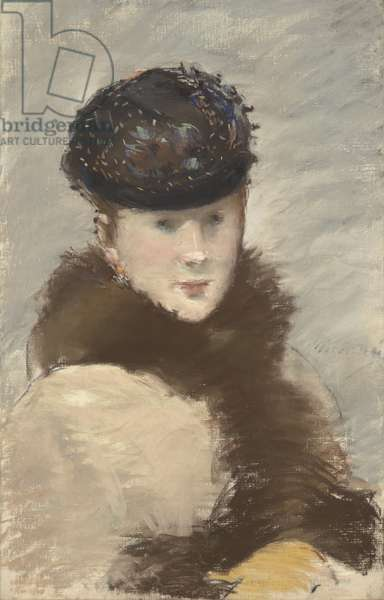 Mery Laurent Wearing a Small Toque, 1882 (pastel on canvas)
