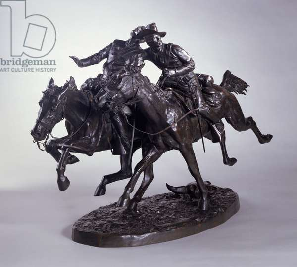 The Wounded Bunkie, 1896 (bronze)