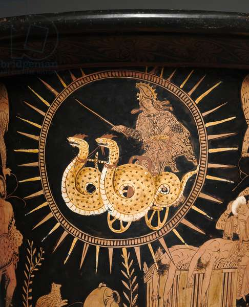 Detail from a red-figure lekythos (ceramic)