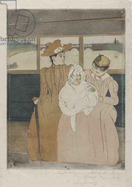 In the Omnibus, 1890-91 (colour drypoint and aquatint)