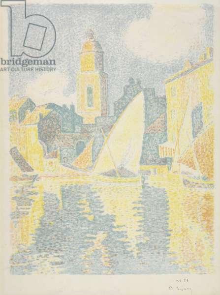 Saint-Tropez: The Port, 1897-98 (colour lithograph)