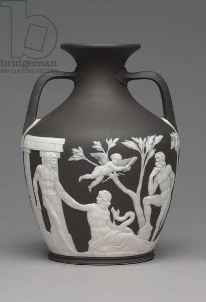 Portland Vase, c.1790 (jasper ware with relief decoration)