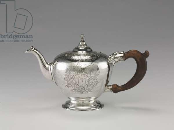 Teapot, c.1755-1760 (silver)