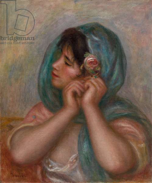 Young Woman Arranging Her Earring, 1905 (oil on canvas)