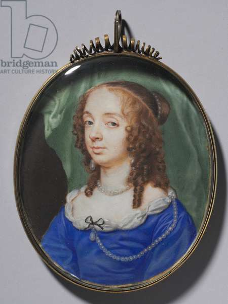 Portrait of a Woman, 1646 (watercolor on vellum in a silver gilt frame)