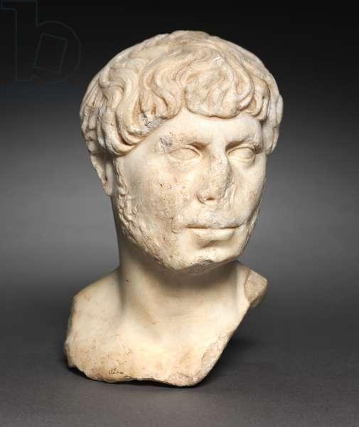 Head of a Bearded Man, c.125 (marble)