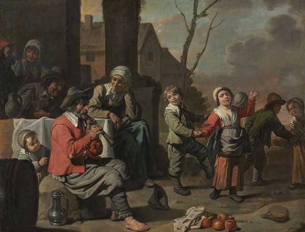 Peasant Children Dancing, c.1650 (oil on canvas)