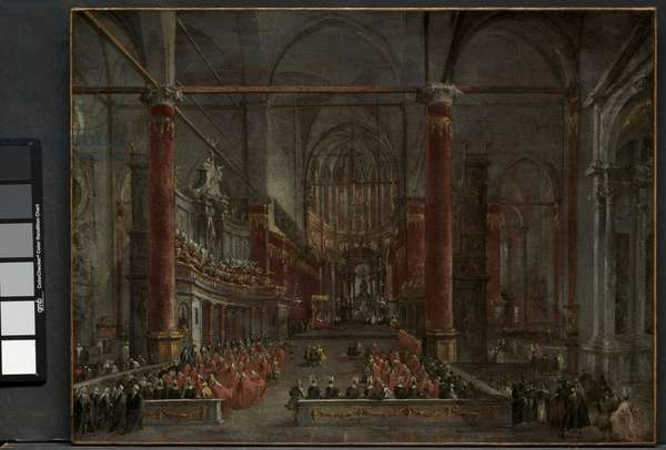 Pontifical Ceremony in SS. Giovanni e Paolo, Venice, 1782, c. 1783