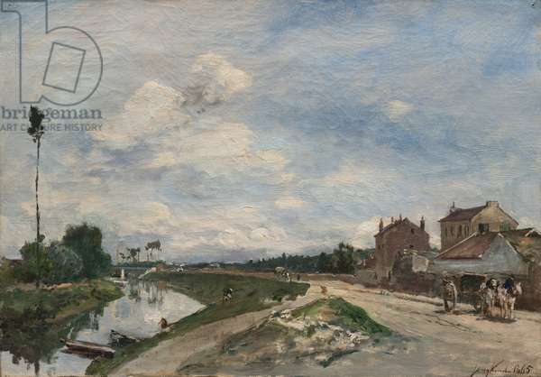 The Seine at Bas-Meudon, 1865 (oil on fabric)