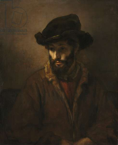 A Bearded Man Wearing a Hat, c. 1655-1660 (oil on canvas)